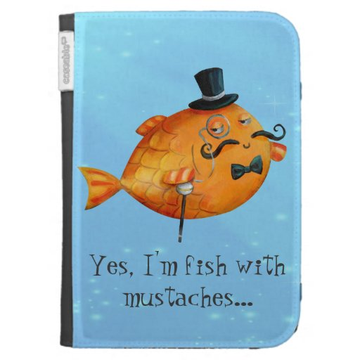 Sir Fishy Mustached Fish Cases For The Kindle