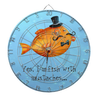 Sir Fishy Mustached Fish Dartboards
