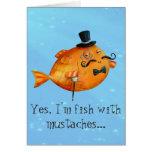 Sir Fishy Mustached Fish Felicitaciones