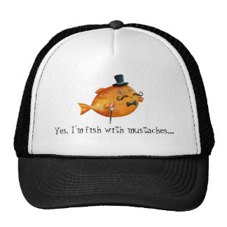 Sir Fishy Mustached Fish Hats