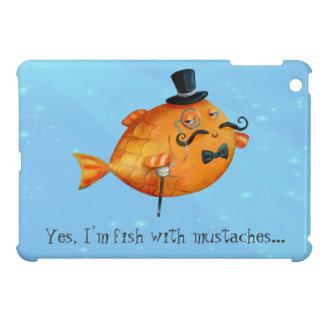 Sir Fishy Mustached Fish iPad Mini Cobertura