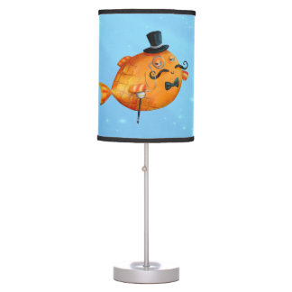 Sir Fishy Mustached Fish Table Lamps
