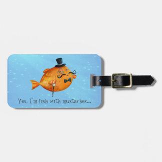 Sir Fishy Mustached Fish Bag Tags