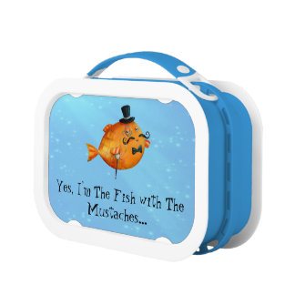 Sir Fishy Mustached Fish Lunch Boxes