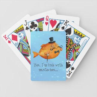 Sir Fishy Mustached Fish Card Decks