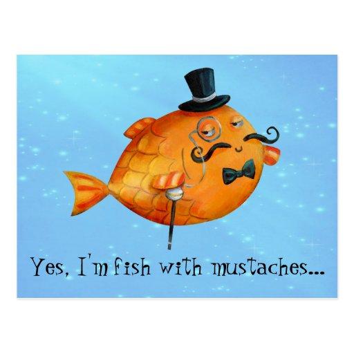 Sir Fishy Mustached Fish Postal