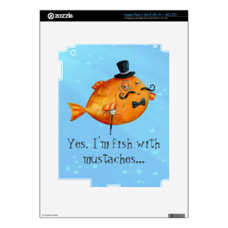 Sir Fishy Mustached Fish Skins For iPad 3