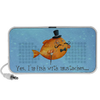Sir Fishy Mustached Fish Travelling Speaker