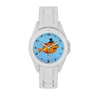Sir Fishy Mustached Fish Wrist Watch