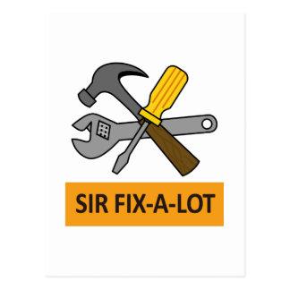 SIR FIX A LOT POSTCARD