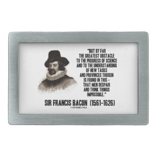 Sir Francis Bacon Obstacle Progress Of Science Belt Buckle