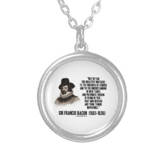 Sir Francis Bacon Obstacle Progress Of Science Round Pendant Necklace