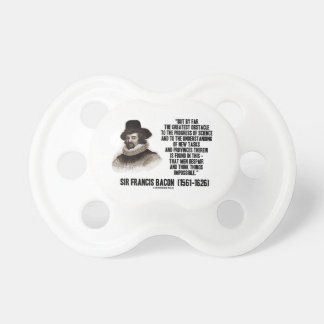 Sir Francis Bacon Obstacle Progress Of Science BooginHead Pacifier