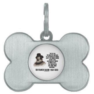 Sir Francis Bacon Obstacle Progress Of Science Pet Name Tags
