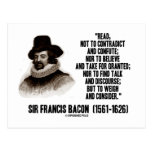 Sir Francis Bacon Read To Weigh And Consider Quote Postcards