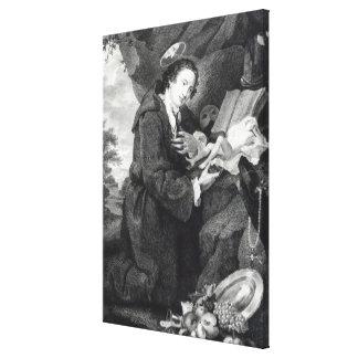 Sir Francis Dashwood  worshipping Venus Canvas Print