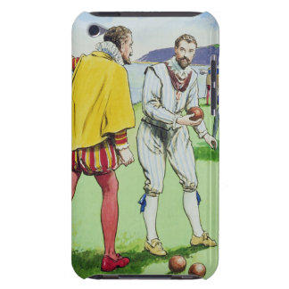 Sir Francis Drake (1540/3-96) playing bowls, from iPod Touch Cover