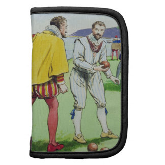 Sir Francis Drake (1540/3-96) playing bowls, from Planners