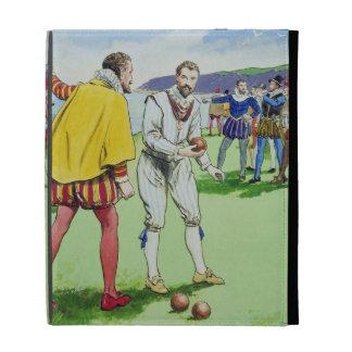 Sir Francis Drake (1540/3-96) que juega los cuenco