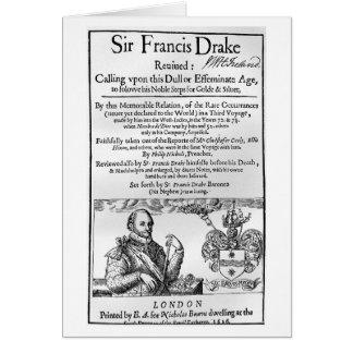 Sir Francis Drake Revived 1626 Card