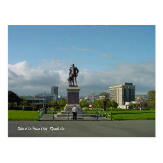 Sir Francis Drake Statue, Plymouth postcard