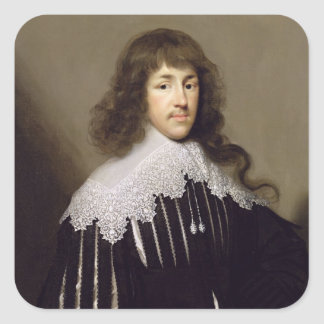 Sir Francis Godolphin, 1633 (oil on canvas) Square Sticker