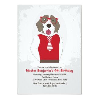 "Sir Frederick Dog Invitation 5"" X 7"" Invitation Card"