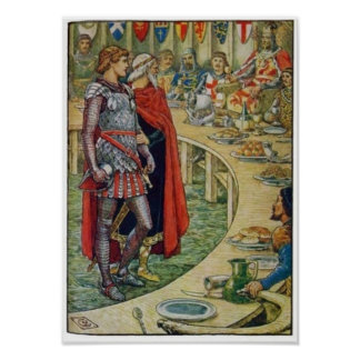 Sir Galahad in Court of King Arthur Posters