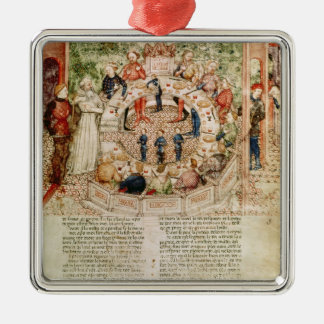 Sir Galahad is Welcomed to the Round Table Metal Ornament