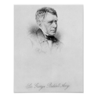 Sir George Biddell Airy, engraved by C.H. Jeens Poster