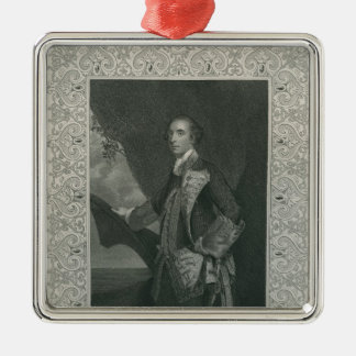 Sir George Brydges Rodney Square Metal Christmas Ornament