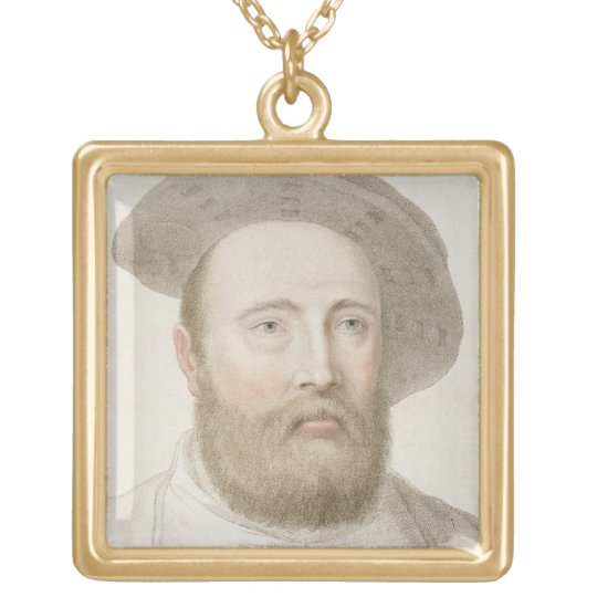 Sir George Carew (b.c.1514) engraved by Francesco Gold Plated Necklace