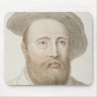 Sir George Carew (b.c.1514) engraved by Francesco Mouse Pad