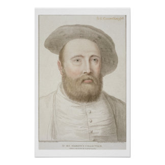Sir George Carew (b.c.1514) engraved by Francesco Poster