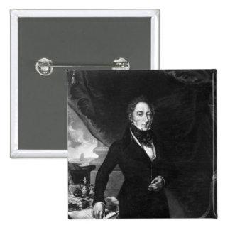 Sir George Staunton, 1839 Pin Cuadrado