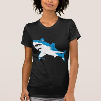 Sir gran tiburón blanco poleras