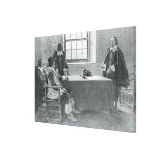 Sir Guillermo Berkeley Surrendering Impresión En Lona Estirada