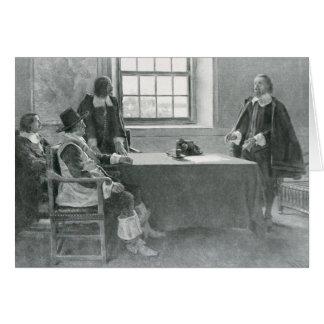 Sir Guillermo Berkeley Surrendering Tarjeta De Felicitación