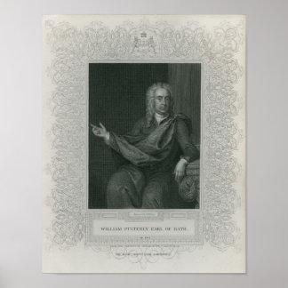 Sir Guillermo Pulteney, conde del baño Póster