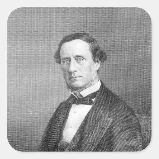 Sir Guillermo Sterndale Bennett, 1844 Pegatina Cuadrada