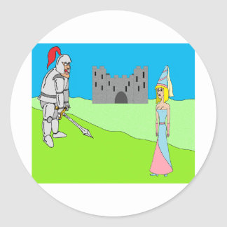 Sir Gullible & Princess Gertrude (castle) Classic Round Sticker