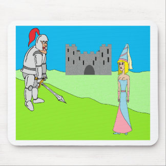 Sir Gullible & Princess Gertrude (castle) Mouse Pad