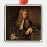 Sir Isaac Newton Adorno Navideño Cuadrado De Metal