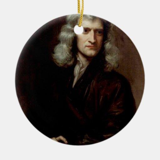 sir Isaac Newton Adorno Navideño Redondo De Cerámica