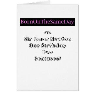 sir isaac newton Born on same day as Card