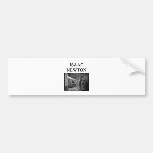 sir isaac newton bumper sticker