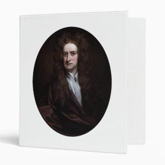 Sir Isaac Newton by Godfrey Kneller 1702 3 Ring Binder