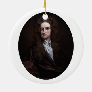 Sir Isaac Newton by Godfrey Kneller 1702 Ceramic Ornament