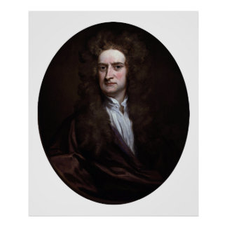 Sir Isaac Newton by Godfrey Kneller 1702 Poster