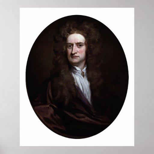 Sir Isaac Newton de Godfrey Kneller 1702 Póster
